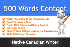 500 Words Unique & Quality SEO Optimized Article Writing Service