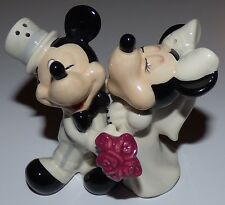 WALT DISNEY MICKEY MOUSE MINNIE WEDDING MAGNETIC SALT & PEPPER SHAKERS WESTLAND