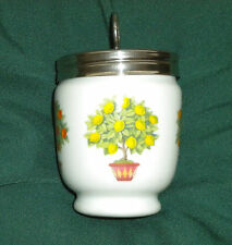 "NEW KING EGG CODDLER,JAR,ORANGE/LEMON ""FRUIT TREES""~ROYAL WORCESTER~NICE COLORS"