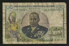 Afrique Equatoriale et Cameroun : 100 Francs 1961 - 62 ; Banque Centrale