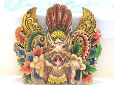 Wooden Garuda Mask Hand Carved Wood Bali Wall Decor Art #9785