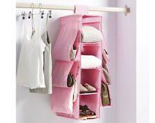 HANGING BAG ORGANISER - 10 COMPARTMENTS TO HOLD CLOTHES BAGS OR SHOES - NEW