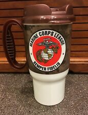 Marine Corps Travel Mug Coffee Cup Plastic USMC Globe Anchor Camouflage Digital