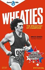 Wheaties # 11 - 8 x 10 Tee Shirt Iron On Transfer Bruce Jenner cereal box