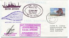 1987 RS NS Africana Fisheries Research Institute Polar Antarctic Cover SIGNED
