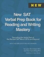 New SAT Verbal Prep Book for Reading and Writing Mastery : Decoding the...