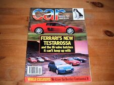 CAR MAGAZINE JAN-1992 - Ferrari 512 TR, Escort RS2000, Fiat Tipo 16v, Astra GSi