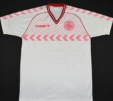 1984-1986 DENMARK HUMMEL AWAY FOOTBALL SHIRT (SIZE XL)