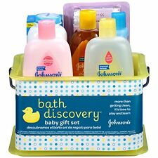 JOHNSON'S Bath Discovery Baby Gift Set 8 Item Plastic With Bath Caddy Storage