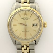 ROLEX 1601 VINTAGE DATEJUST NON QUICK SET 14K GOLD SS MENS WATCH