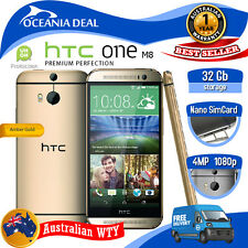 [NEW SEALED BOX] HTC ONE M8 32GB 4G LTE GOLD 100% UNLOCKED - LOCAL OZ WTY