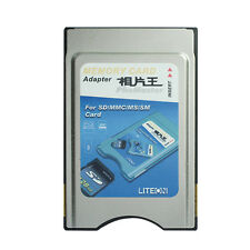 For SD MMC MS SM Card into PCMCIA Adaptor 4 in 1 PhoMaster Memory Card Adapter