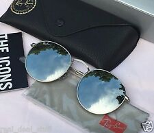NEW! Authentic RAY-BAN ROUND METAL Sunglasses Silver Flash/Silver 019/30 RB3447
