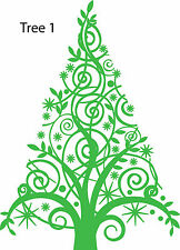 Christmas Trees Retail Shop Window Display Vinyl Sticker Wall Sticker V1, V10