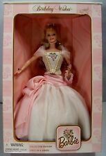 "1998 Mattel 21128 ""BIRTHDAY WISHES"" First/1st in a Series BARBIE Doll MIB NRFB"