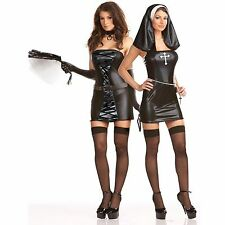 NAUGHTY HABITS REVERSABLE COSTUME.  NUN, Preist, SIZE 8 -10  Two in One Costume