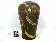 "Typical 50´s design SAWA pottery vase  # Keramik Vase "" Torino "" 248 / 25  25,5"