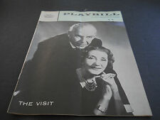 JUNE 1958 PLAYBILL, THE VISIT, LUNT-FONTANNE THEATRE, ALFRED LUNT