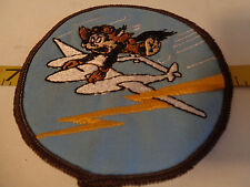 Air Force Squadron Patch Felix the Cat Twin Boom Rare Military Service Airplane