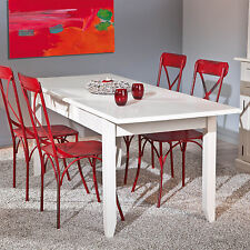 Tisch Esstisch Küchentisch Weiß Matt Massivholz ausziehbar NEU