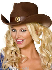 Dames Fever Boutique Cow-boy Sexy Cowgirl Far West Sheriff Chapeau Déguisement