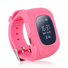GPS Children Pink Locator Tracker Anti-Lost Smart watch Safety for smartphone