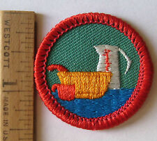 Girl Scout 1990s Junior Badge EXPLORING HEALTHY EATING Foods Cooking Chef Patch