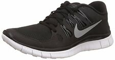 NIKE RUNNING SHOES FREE 5.0 BLACK WOMEN 7 NEW 580591-002 WAFFLE TREAD