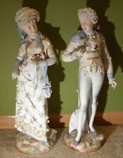 Antique French Biscuit Porcelain Pair of Figurine s Porcelaine Figure s France