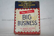 NEW EDITION BIG BUSINESS NATIONAL MONEY GAME 1936.  MADE BY TRANSOGRAM CO. NY