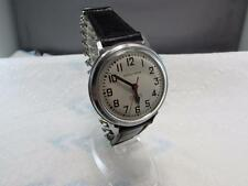 VINTAGE 214 BULOVA ACCUTRON RAILROAD APPROVED SS WRIST WATCH *RUNS*