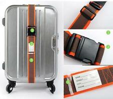 NEWTravel Strap Belt Secure Durable for Travel Suitcase Baggag Luggage ORANGE