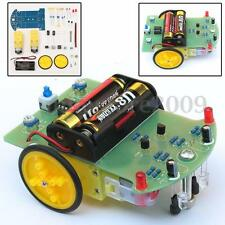 Module Smart Tracking Robot Car Electronic DIY Kit With Reduction Motor Set