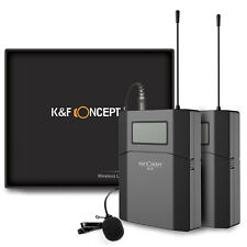 K&F M8 UHF Wireless Unidirectional Lavalier Microphone Mic for DSLR SLR Cameras