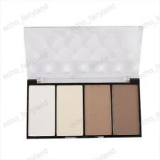 4 Matte Colors Highlighting Shading Smooth Powder Bronzer Pallette New
