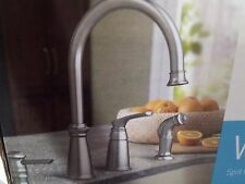 Moen Whitmore Spot Resist Stainless 1-Handle High Arc Kitchen Faucet #CA87044SRS