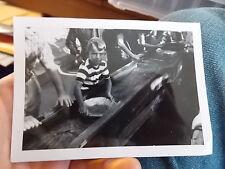VINT SNAPSHOT PHOTO BOY PANS FOR GOLD AT KNOTT'S BERRY FARM AMUSEMENT PARK