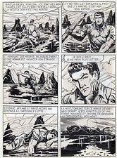 BOB LEGUAY METAMORPHOSE PLANCHE ORIGINALE TIM L'AUDACE ANNEES 1950 PAGE 25