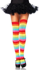 Rainbow Thigh High Over the Knee Stripes Red Blue Pink Orange Yellow Green Socks