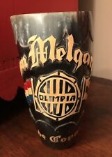 Vintage 1940's PARAGUAY Sports Club Carved Ox Horn Trophy Cup