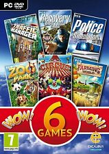 WOW Simulations Collection (PC DVD) NEW SEALED POLICE SIM/ZOO PARK/FARMING WOR