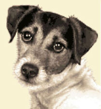JACK RUSSELL TERRIER dog - Full counted cross stitch kit  STUNNING