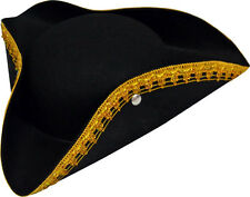 Hat TRICORN Black Costume Boy's Costume Pirate Marquis