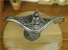 Metal Carved Magic Genie lamp Aladdin Arabian Nights Arab Retro Tea Pot Tibetan