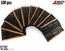"100 x Tubeless Tire Tyre Puncture Repair Kit 4"" Strips Plug Car Van Truck Bike"