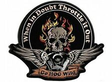 THROTTLE IT OUT Funny Embroidered HOG MC Club Biker Vest Back Patch LRG-0544