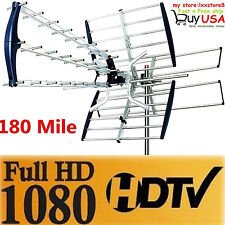 180 Mile HDTV 1080p Outdoor Amplified HD TV Antenna Digital UHF/VHF FM Radio New