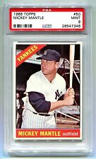 1966 TOPPS MICKEY MANTLE #50 PSA 9 MINT POP 56 (LOOKS GEM MINT) B26547346