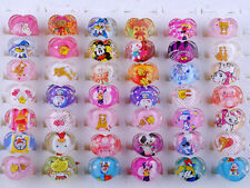 20Pcs Wholesale Mixed Lots Cute Cartoon Children/Kids Resin Lucite Rings Gift