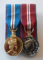 Court Mounted Queens Golden & Diamond Jubilee Medal, Miniature, Mini, Mess Dress